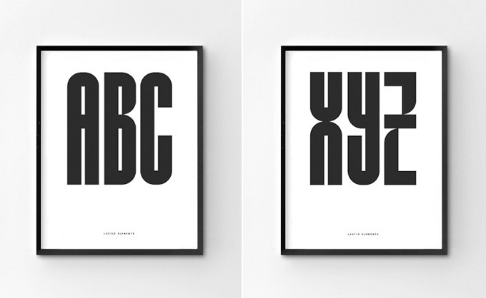 Add some alphabet to your life with 'ABC' and/or 'XYZ' prints - *Frame not included