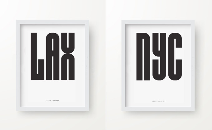 For the metropolitan modernist in you - 'LAX' and 'NYC' prints that celebrate the Lustigs' time in each city - *Frame not included