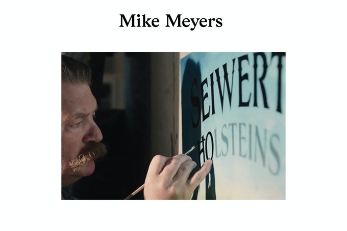 NEW REWARD One Place on the Upcoming Mike Meyers Signpainting Workshop £185 or more