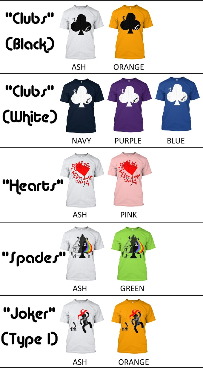 Selection of Pipmen Tshirts available with the campaign!
