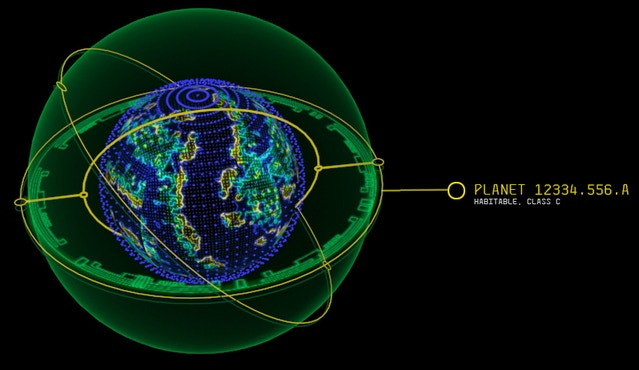 Planetary info mockup