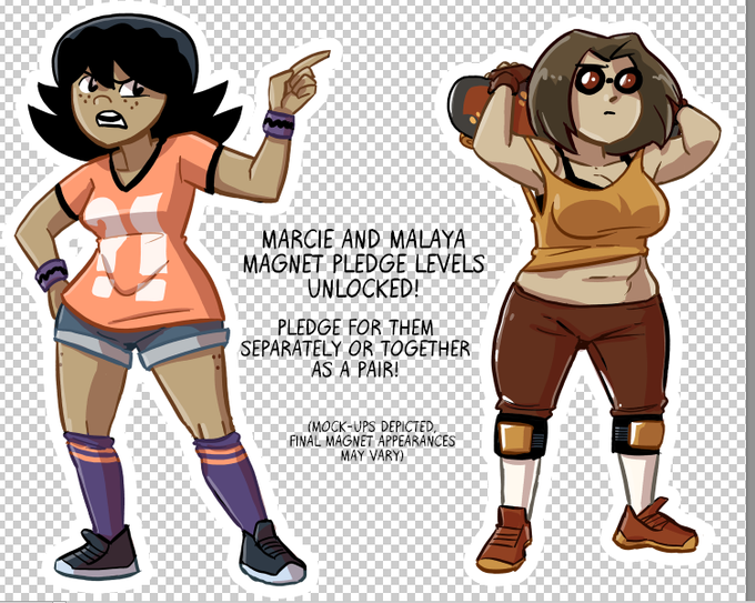 Malaya and Marcie magnets are now unlocked!