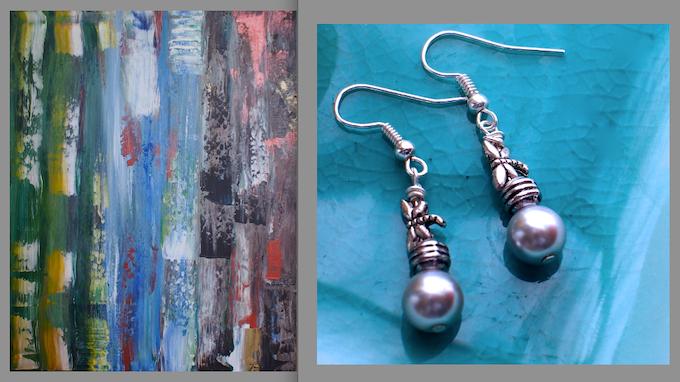 Painting #4, Firefly Earrings