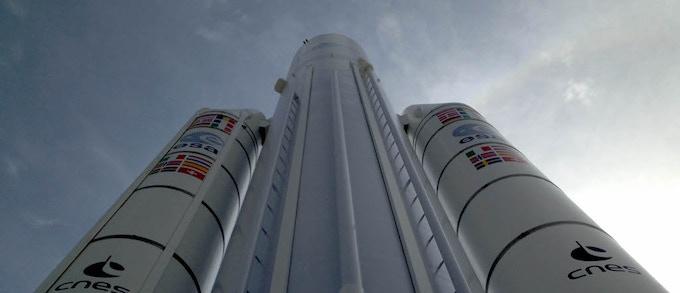 ESA Ariane 5 rocket in Paris Le Bourget, France