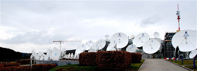 Antennae at SES Betzdorf, Luxembourg