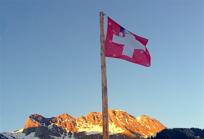 The Swiss flag that leads our conduct