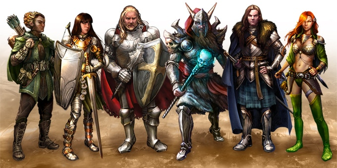 Players will choose One of Six mighty Heroes with powerful abilities to start the game.