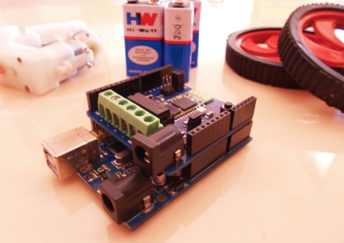 Jetpack bluetooth shield for arduino robots by