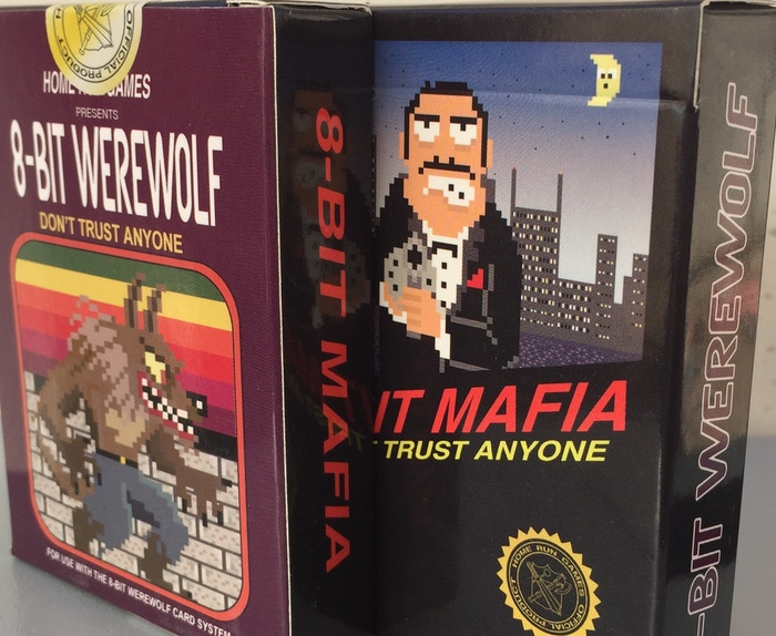 8-Bit Mafia Cards & 8-Bit Werewolf cards. Both games come in 1 cool tuck box. 24 Characters for each game.
