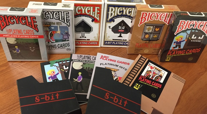 8-bit, themed Bicycle Playing Cards, designed to take you back to the video games you grew up on.