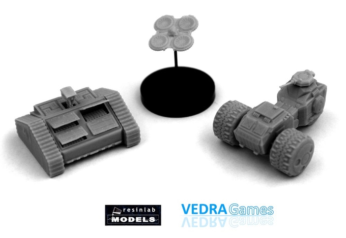 Example of minis printed and casted from 3d models, seen in the video below..