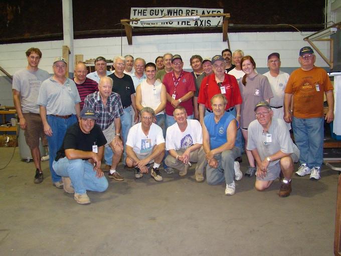 Just a few of the dedicated PT-305 volunteer crew.