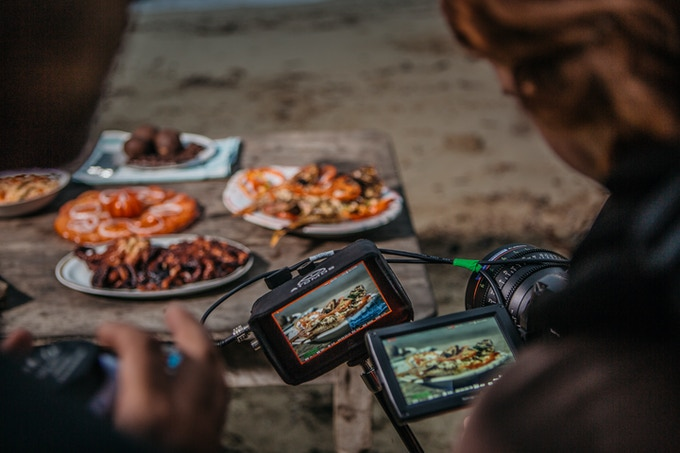 Shooting a seafood feast at Maguaba Beach in Baracoa, Cuba. By Asori Soto.