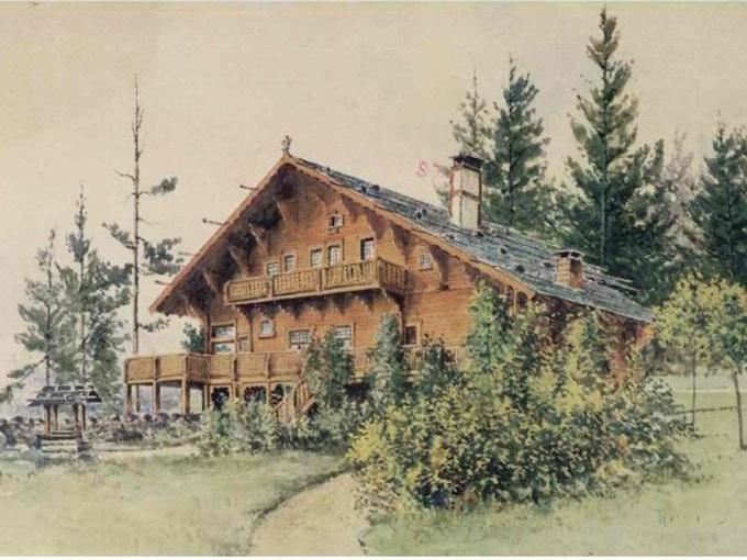 rendering of the original chalet