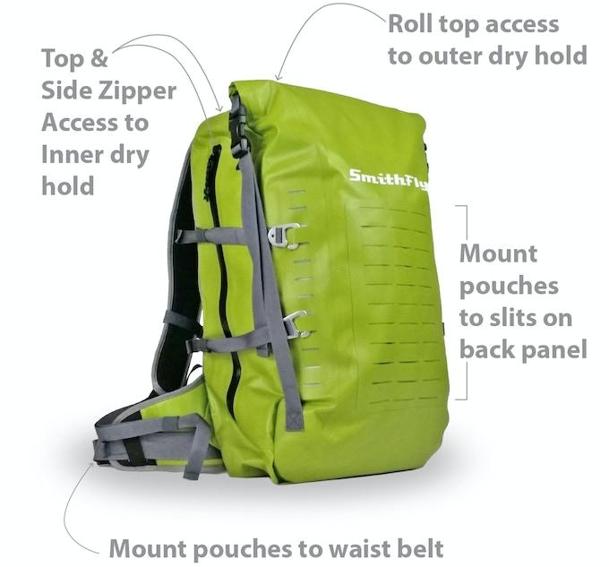 Big Scioto Dry Pack Features