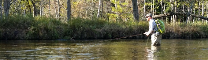 Product Testing on the Pere Marquette River in Michigan.