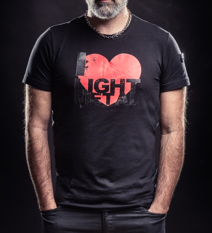 "Man T°shirt with ""I love light metal"" logo"
