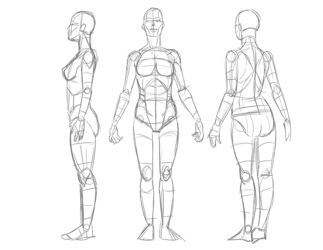 drawn female pose reference cards by nicholas franda first set of