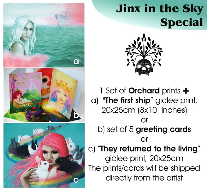 Jinx in the Sky special, €50 plus postage, only THREE available. A and C are now claimed