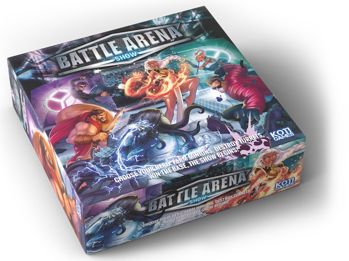 Fight and cooperate with your team to destroy the enemy base in this amazing miniatures board game inspired by PC MOBA games.