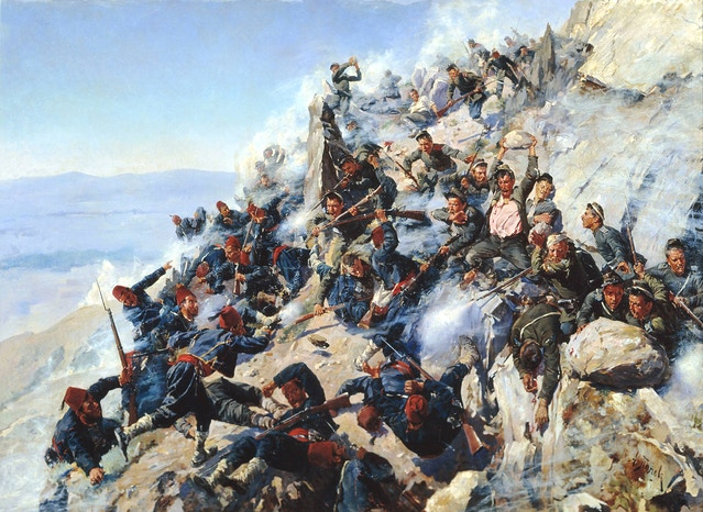 The Battle of Shipka Pass in August 1877