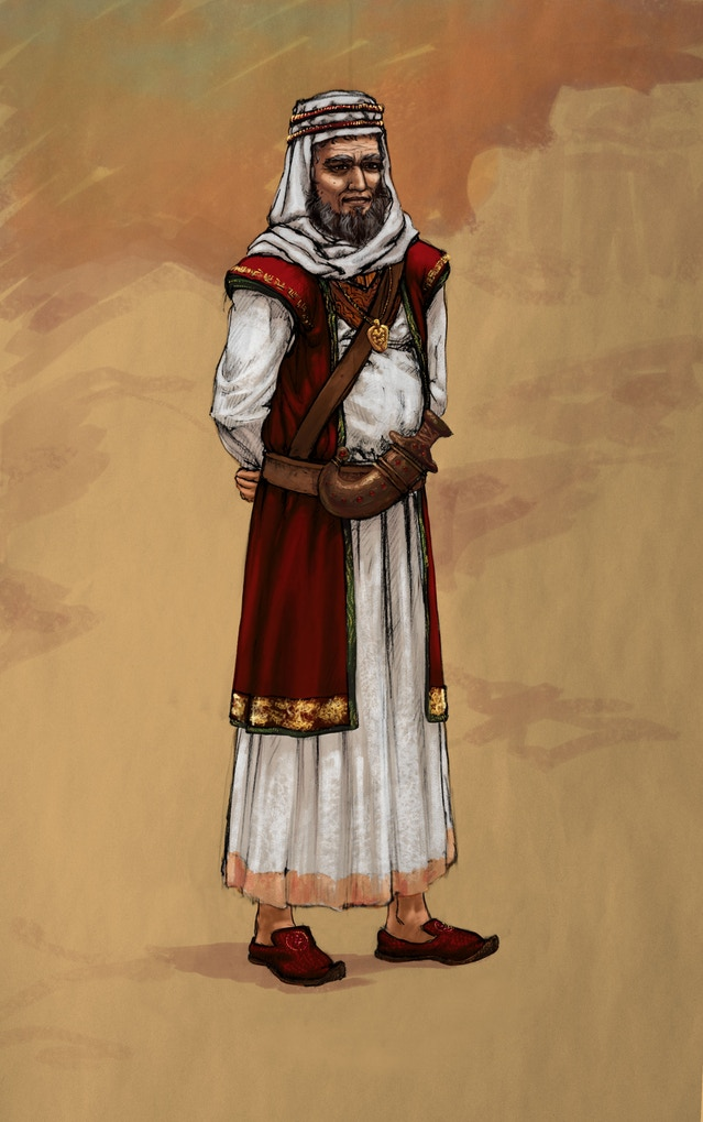 Omar in the year 1892 A.D., some months before Nathaniels return, as concepted by our Lead 2D Artist & Art Director Luna Riedler