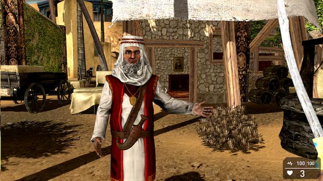 Omar El-Amin in his first in-game appearance, GameGuru Prototype Spring 2015