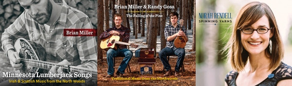 Three albums of northwoods music available as digital downloads or physical copies at various levels of support