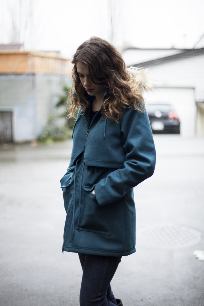 Mia Melon Journey Coat in Teal