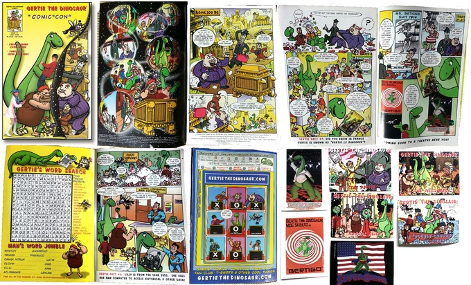 GERTIE THE DINOSAUR Comicbook Issue #1 with Trading Cards (2000)