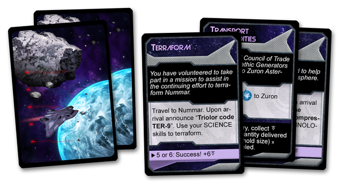 A few of the Interplanetary Mission cards!