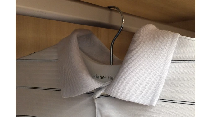 Higher Hangers Were Designed With Collared Shirts In Mind