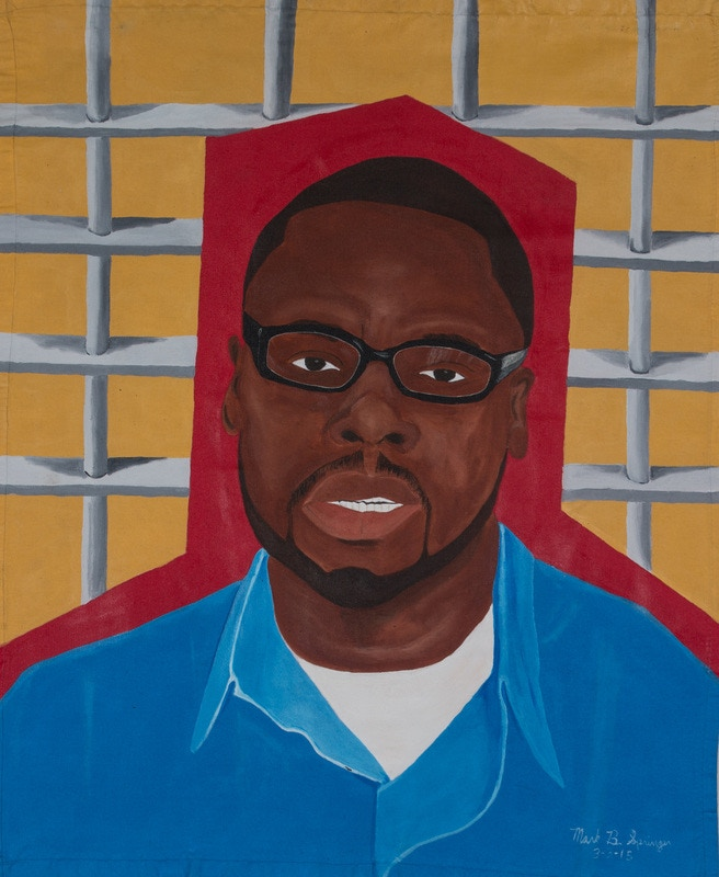 """A Great Man Behind Bars"" by Mark Springer. Portrait of DJC artist Charles Williams"