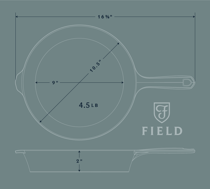 The Field Skillet Lighter Smoother Cast Iron By Field Company