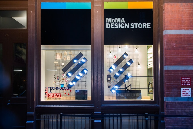 May 2015 - A Cubetto 2.0 prototype smiles at us through the MoMA Store window
