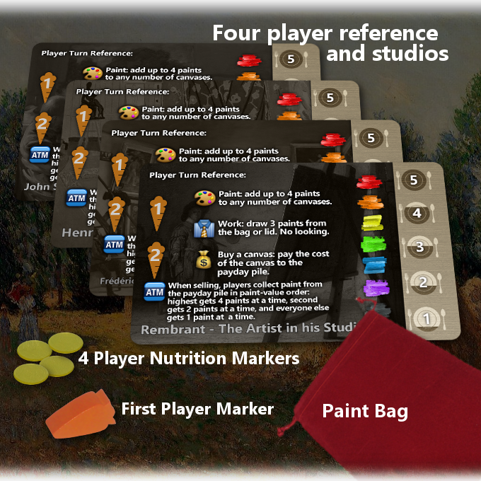 Player References, Nutrition and Player Markers & Bag