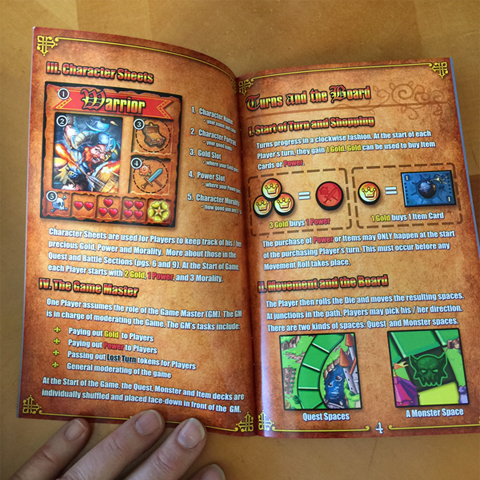 The rules booklet