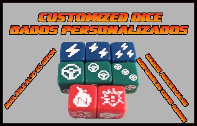 You could buy additional dice as addon! ¡Puedes comprar dados adicionales!