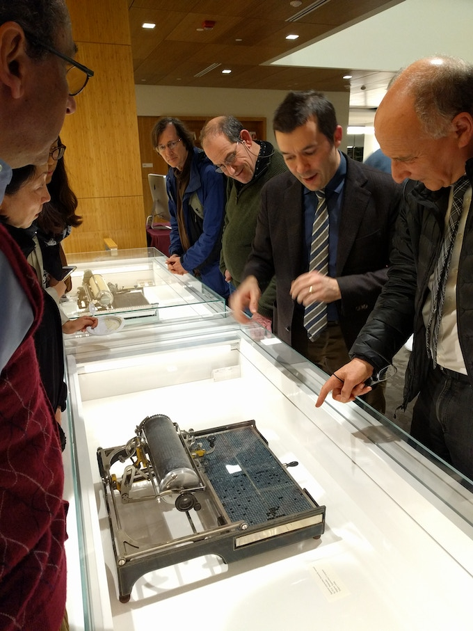 Curator and Stanford Professor Tom Mullaney Explaining How Chinese and Japanese Typewriters Work (photo by Zhijian Qiao)