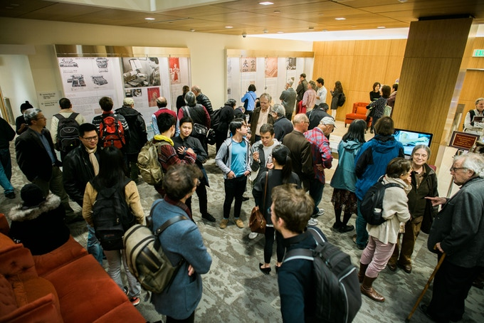 "120+ People Attend January 2016 Launch of ""Proto-Exhibit"" at Stanford University (photo by Zhijian Qiao)"