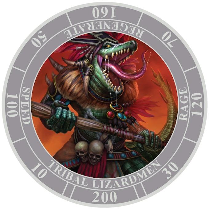 "Dark Army Regular Unit--""Tribal Lizardmen"""
