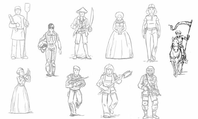 Les premiers dessins / The roughs