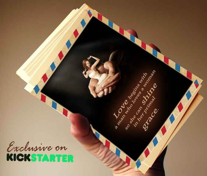 SPECIAL EDITION of postcards with quotes from Awakening Her - only on Kickstarter