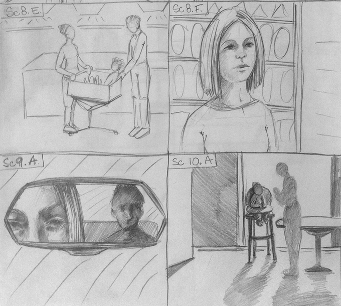 Example page from storyboard