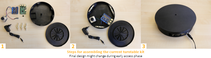 Current turntable kit prototype (click to enlarge)