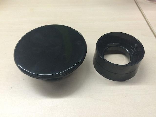 Handground black sample parts
