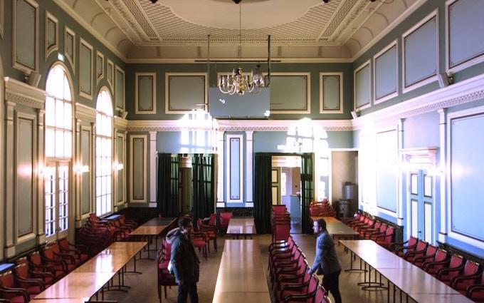 Inside the venue