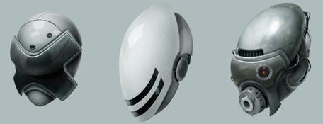Futuristic Soldier Helmets