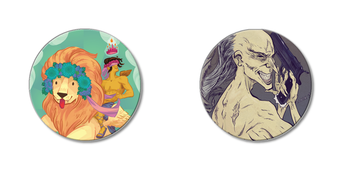 "1.5"" Button Mock-ups (not actual size)"
