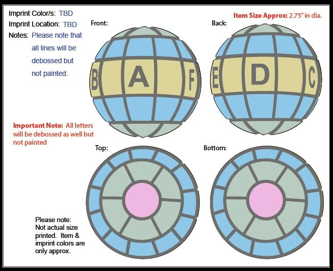 "AVID Ball. Production versions will be 2"" diameter."